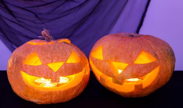 Zbliżenie Koncepcji Dyni Halloween Darmowe Zdjęcia