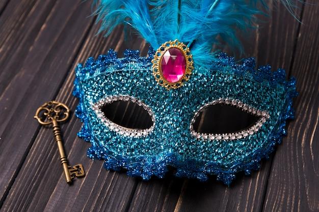 Zbliżenie Maska i Klucz Darmowe Zdjęcia