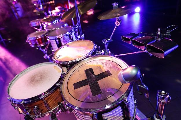 Zbliżenie Perkusji W Klubie Disco Premium Zdjęcia