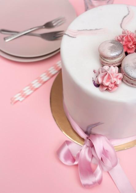 Zbliżenie Pyszny Tort Urodzinowy Darmowe Zdjęcia