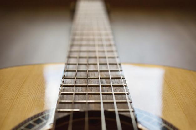 Zbliżenie Strun Gitarowych Premium Zdjęcia