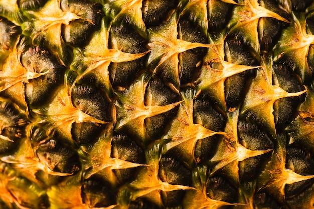 Zbliżenie Tła Skórki Ananasa Darmowe Zdjęcia