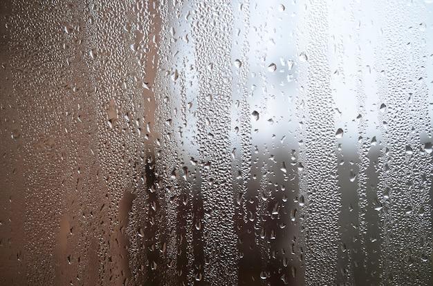 Zdjęcie szklanej powierzchni okna Premium Zdjęcia