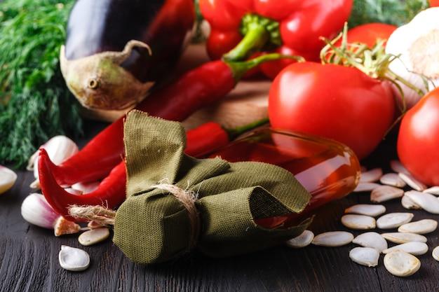 Zdrowa żywność, Modne Produkty Dietetyczne, Warzywa, Płatki Zbożowe, Orzechy. Obrazy Olejne Premium Zdjęcia