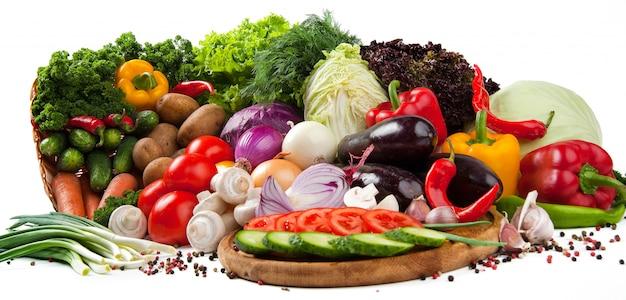 Zdrowe I Smaczne Owoce I Warzywa Premium Zdjęcia