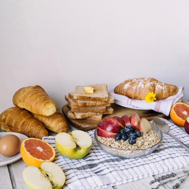 Zdrowe Jedzenie Na Sniadanie Zdjecie Darmowe Pobieranie