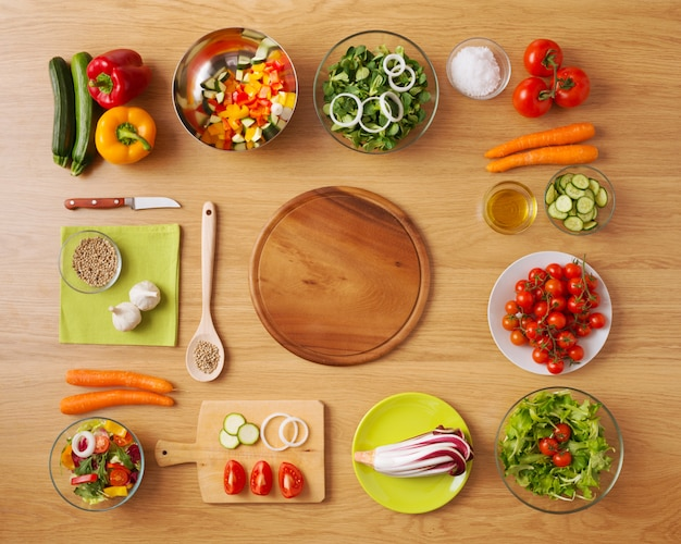 Zdrowe Wegetariańskie Domowe Jedzenie Premium Zdjęcia