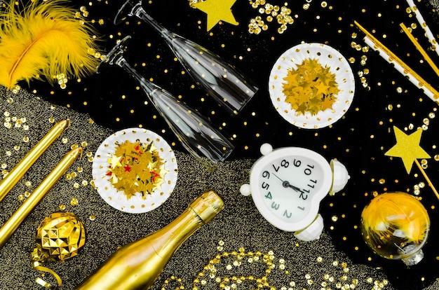 Zegar Obchodów Nowego Roku 2020 I Złoty Blask Darmowe Zdjęcia