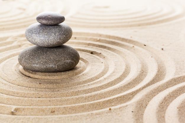 Zen Ogród Medytacja Kamień Tło Premium Zdjęcia