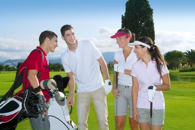 Zespół Golfa Dla Młodych Graczy Premium Zdjęcia