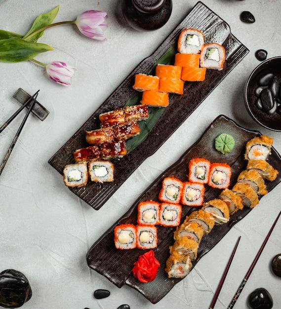 Zestaw Do Sushi Na Widok Blatu Darmowe Zdjęcia