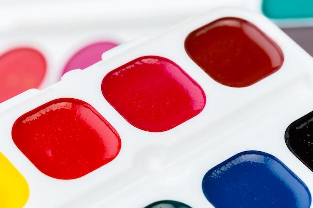 Zestaw farb akwarelowych Premium Zdjęcia