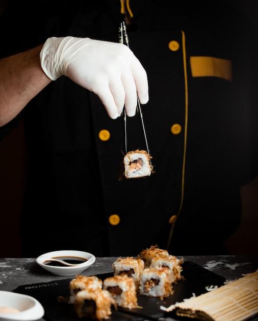Zestaw Sushi Z Sosem Sojowym Darmowe Zdjęcia