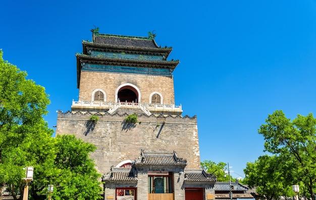 Zhonglou Lub Bell Tower W Pekinie - Chiny Premium Zdjęcia