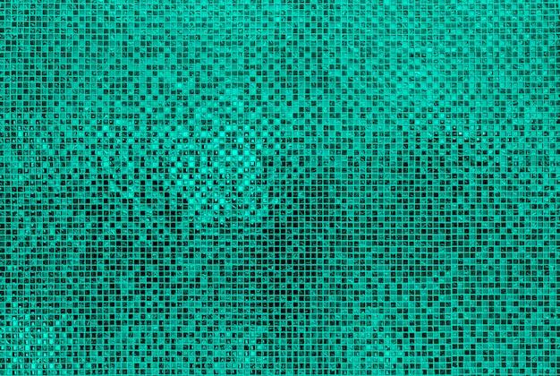 Zielona mosiac płytek ściana Premium Zdjęcia