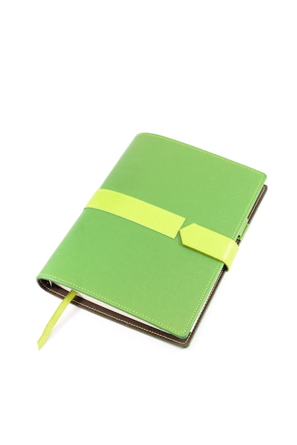 Zielona okładka notesu Premium Zdjęcia
