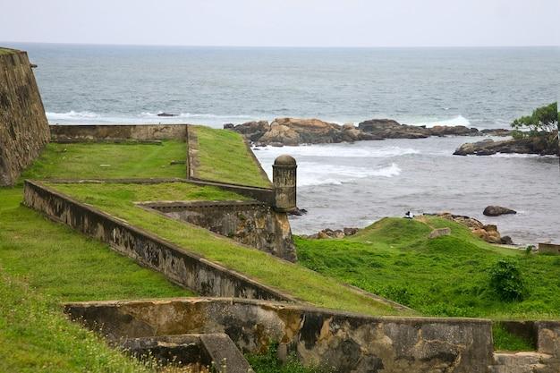 Zielona Trawa I Morze Premium Zdjęcia