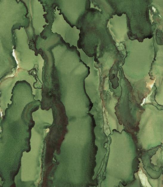 Zielone magiczne tło. malowane tuszem tekstury. Premium Zdjęcia