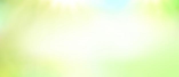 Zielone światło Słoneczne Rozmyte Tło. Premium Zdjęcia