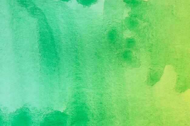 Zielony Cień Abstrakcjonistycznej Akwareli Sztuki Ręki Farby Tło Darmowe Zdjęcia