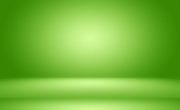 Zielony Gradient Streszczenie Pusty Pokój Premium Zdjęcia