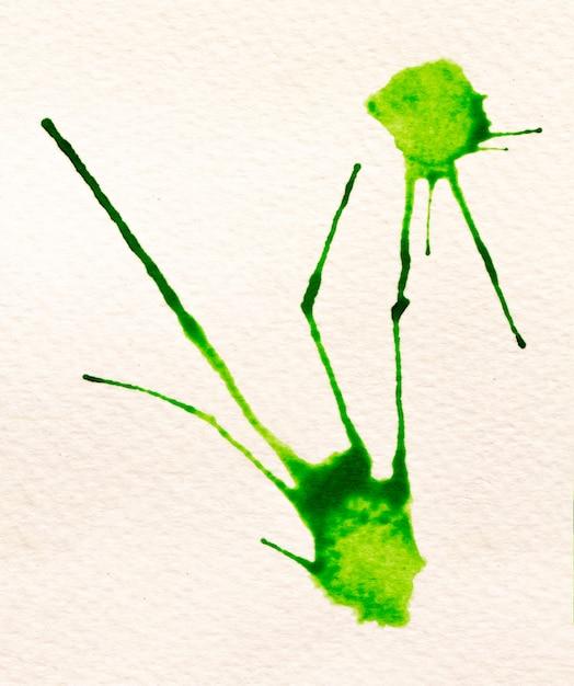 Zielony Obrys Pędzla Na Białym Papierze Premium Zdjęcia