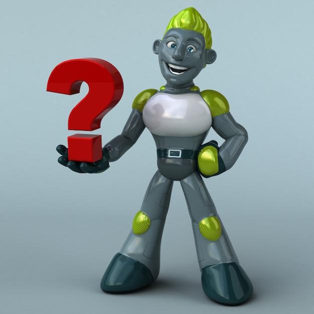 Zielony Robot - Postać 3d Premium Zdjęcia