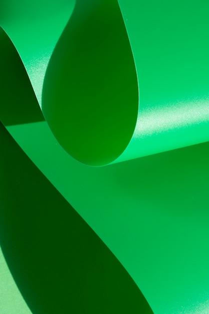 Zielony streszczenie zakrzywione monochromatyczne papieru Darmowe Zdjęcia