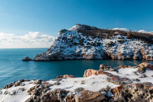 Zimą Pokryte śnieżnymi Klifami Kominiarki Premium Zdjęcia