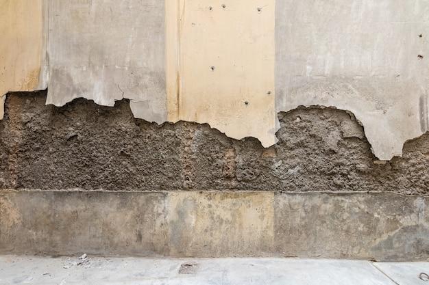 Złamana i niemalowana ściana Premium Zdjęcia