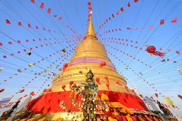 Złota góra tajlandia Premium Zdjęcia