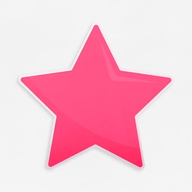 Złota ikona ulubionych gwiazda na białym tle Darmowe Zdjęcia