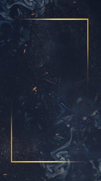 Złota ramka na niebieskim tle Darmowe Zdjęcia
