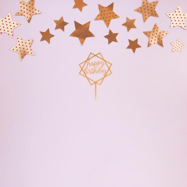 Złote dekoracje na przyjęcie urodzinowe z miejsca kopiowania Darmowe Zdjęcia