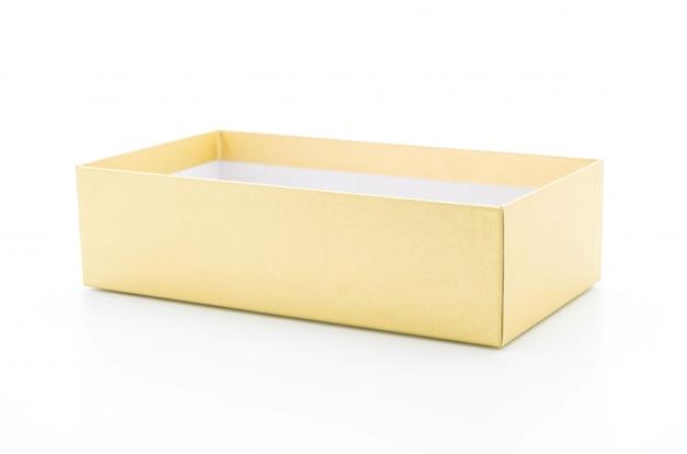 Złote pudełko z papieru Premium Zdjęcia