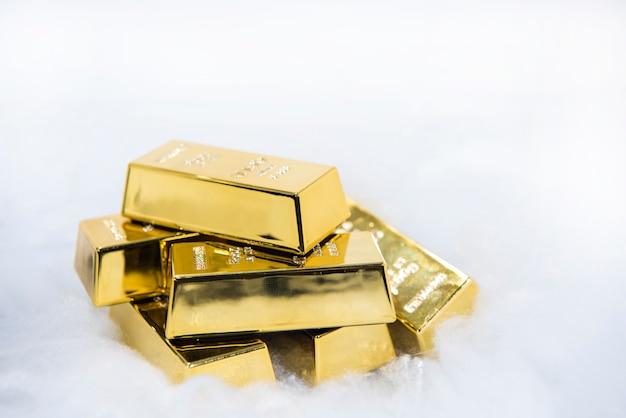 Złote Sztabki Premium Zdjęcia