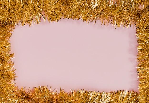 Złoty blichtr rama z różowym tłem Darmowe Zdjęcia