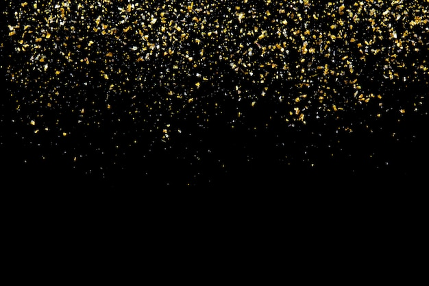 Złoty Brokat Tekstury Na Czarny Streszczenie Premium Zdjęcia