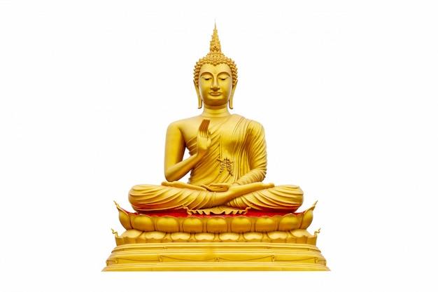 Złoty buddha odizolowywający Premium Zdjęcia