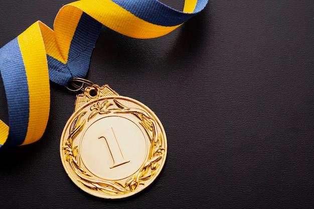 Złoty medal mistrza lub zdobywcy pierwszego miejsca Premium Zdjęcia