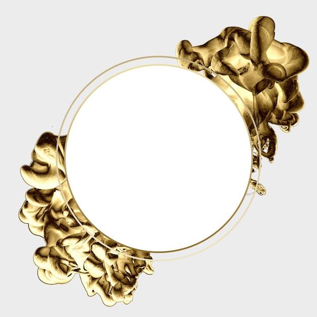 Złoty streszczenie szablon minimalny projekt. Premium Zdjęcia