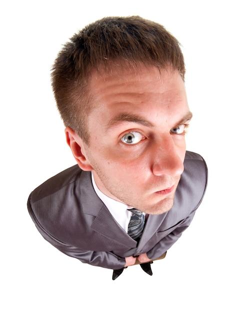 Zmartwiony Biznesmen Szuka Ciebie Premium Zdjęcia