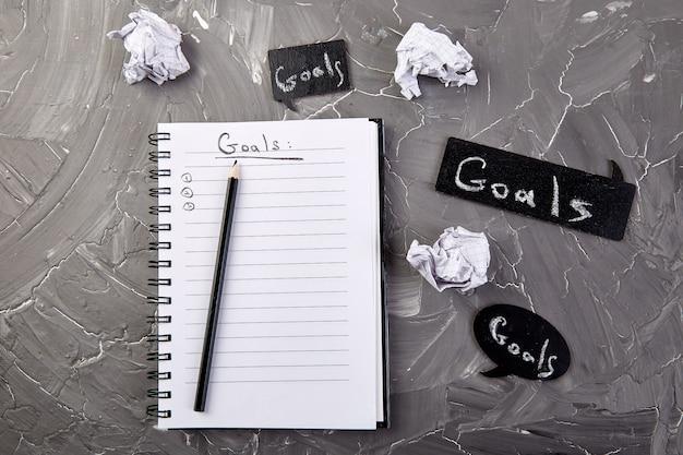 Zmień swój sposób myślenia, inspirujące motywacje biznesowe, cele Premium Zdjęcia