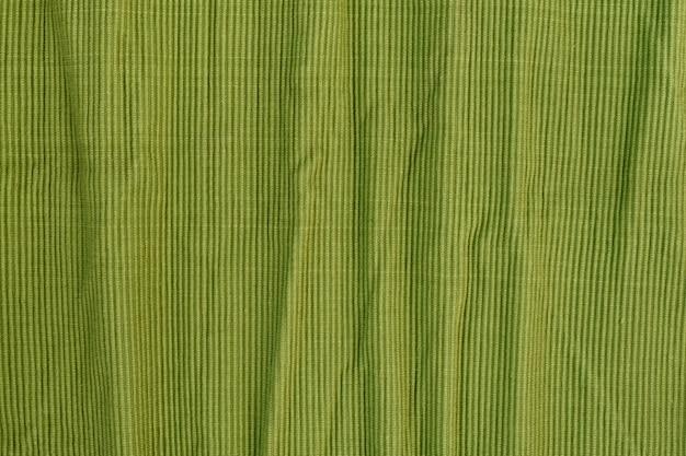 Zmięta Zielona Teksturowana Tkanina Bawełniana Premium Zdjęcia