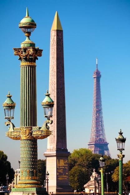Zobacz na place de la concorde w centrum paryża Darmowe Zdjęcia