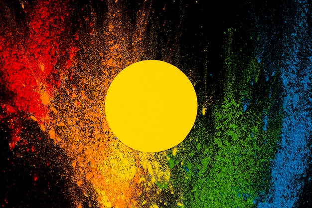 Żółta ramka nad splatted kolorowy kolor holi Darmowe Zdjęcia
