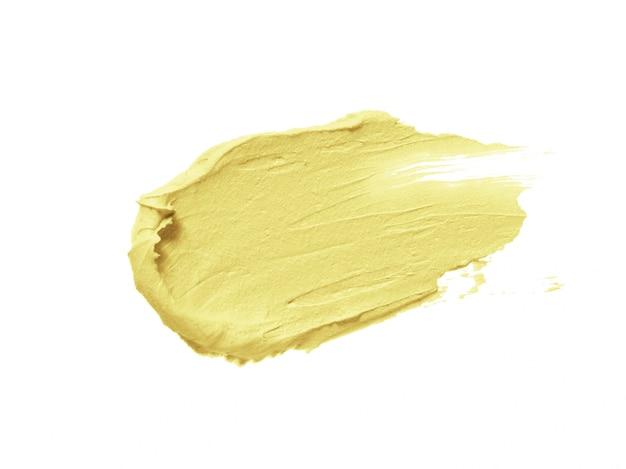 Żółty Korektor Korygujący Obrys Korektora Na Białym Tle Premium Zdjęcia