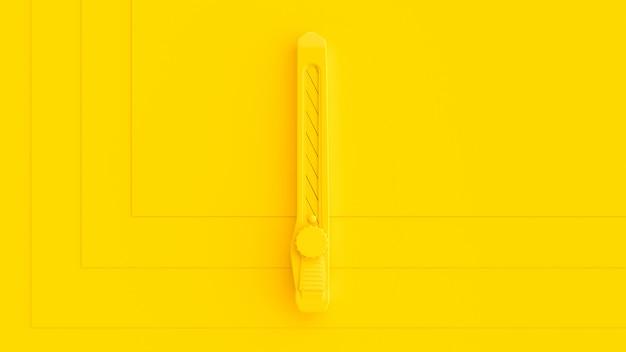 Żółty nóż Premium Zdjęcia