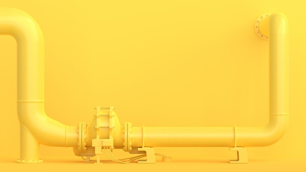 Żółty rurociąg Premium Zdjęcia