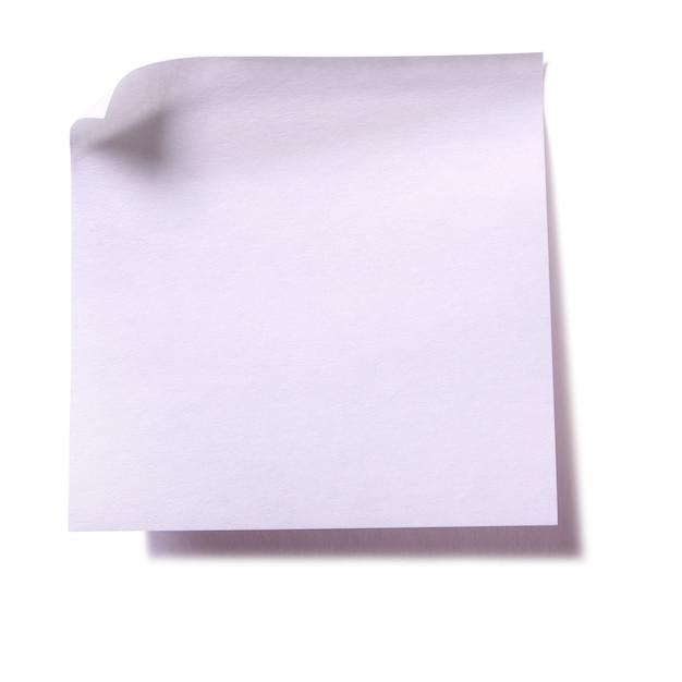 Zwykła biała lepka notatka na białym tle Darmowe Zdjęcia
